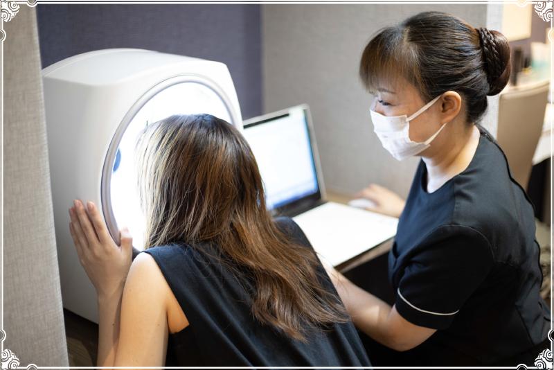 横浜市でボディエステ「肌診断機」