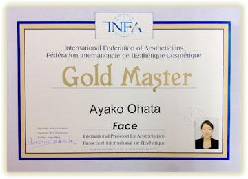 横浜市のエステサロンのオーナーのINFA Gold Master